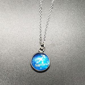 Sagittarius Zodiac Astrology Circle Necklace